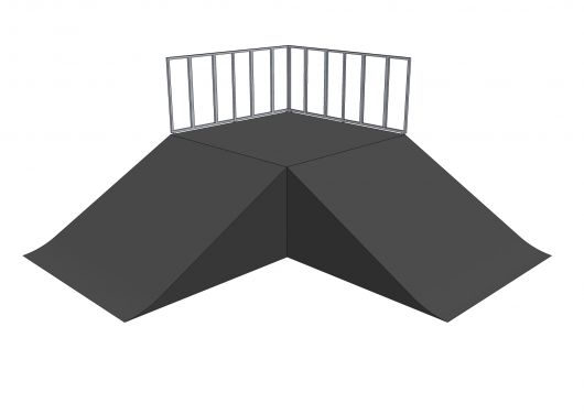 2x Bank ramp 90deg