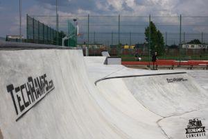 Betonowy skatepark w Wolsztynie