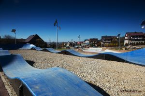 Blue surface of pumptrack - Maniowy