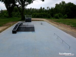 Brand new skatepark in polish city Nowe Miasto nad Pilicą