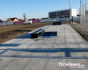 Broken rail on Szamotuly skatepark
