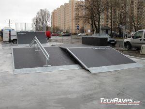 Funbox z grindboxem Skatepark
