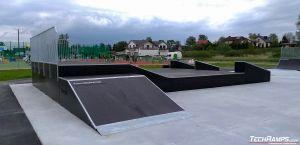 Międzyrzec Podlaski - skatepark modułowy drewniany