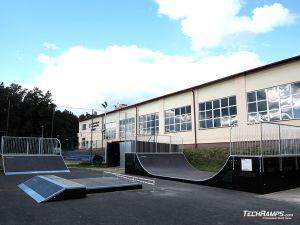 Miniramp and other elements of Skatepark Głogów Małopolski