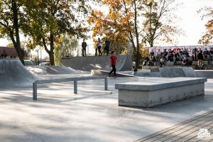 New atraction in Naklo nad Notecią from Techramps - concrete monolith skatepark