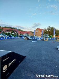 Przeszkody skatepark Wymysłowo