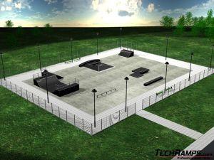 Przykład skateparku