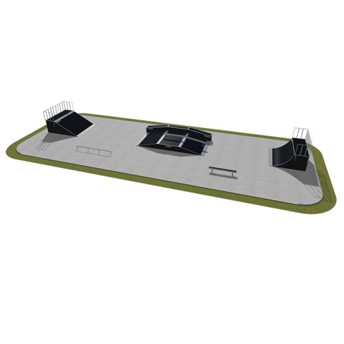 Sample modular skatepark 500115