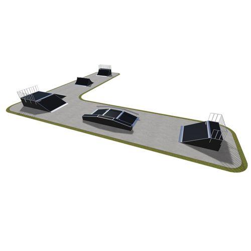 Sample modular skatepark 530115