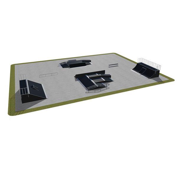 Sample modular skatepark 540115