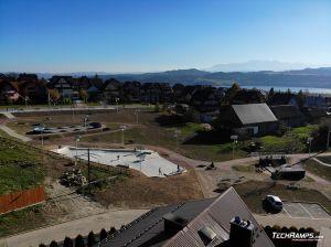 Skatepark, pumptrack, minirampa - Maniowy - drone view