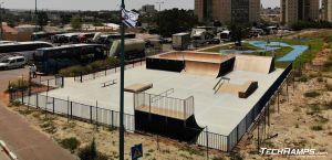 Skatepark Ramla - zdjęcie z drona