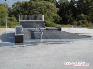 Skatepark w Siewierzy Funbox z grindboxem