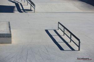 Steel rail in skatepark - Maniowy