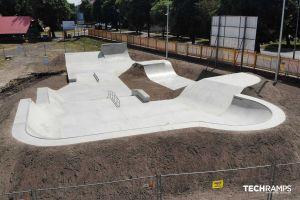 Techramps betong skatepark