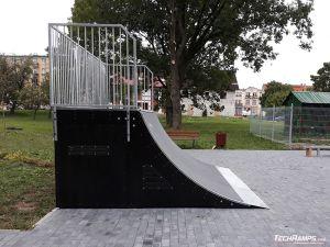 Wooden quarter pipe - modular skatepark Orzysz