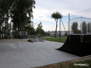 Wooden skatepark in Kaźmierz