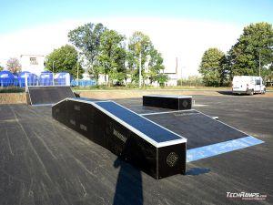 Wooden skatepark in Standard technology
